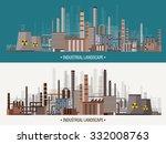 flat industrial background.... | Shutterstock .eps vector #332008763