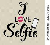 selfie hand drawn decorative... | Shutterstock .eps vector #332041487