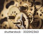 gears and cogs macro   Shutterstock . vector #332042363