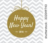 happy new year 2015 card with... | Shutterstock .eps vector #332049743