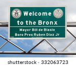 welcome to the bronx street... | Shutterstock . vector #332063723