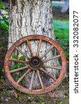 Old Vintage Wood Wagon Wheel...