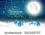 christmas greeting card with... | Shutterstock .eps vector #332103737