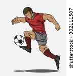 vector illustration soccer... | Shutterstock .eps vector #332111507
