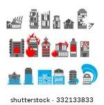 set building disasters...   Shutterstock .eps vector #332133833