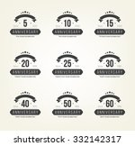 vector set of anniversary signs ... | Shutterstock .eps vector #332142317