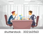 two business man talking... | Shutterstock .eps vector #332163563