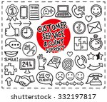 doodle customer service icons... | Shutterstock .eps vector #332197817