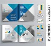 business brochure template... | Shutterstock .eps vector #332201897