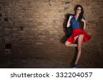 young seductive girl with long... | Shutterstock . vector #332204057