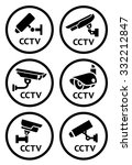 security camera symbols set ... | Shutterstock .eps vector #332212847