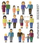 family style man and woman icons | Shutterstock .eps vector #332228357
