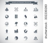 a set of 20 abstract icons  ... | Shutterstock .eps vector #332230283