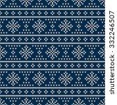 fair isle style seamless... | Shutterstock .eps vector #332246507