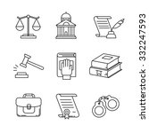 legal  law  lawyer and court... | Shutterstock .eps vector #332247593