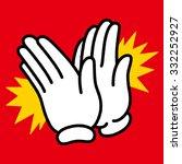 hand pose_clap | Shutterstock .eps vector #332252927