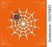 spiderweb   cobweb icon with...   Shutterstock .eps vector #332270837