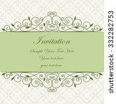decorative vintage frame. swirl ... | Shutterstock .eps vector #332282753