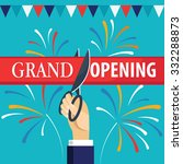 grand opening with fireworks... | Shutterstock .eps vector #332288873