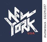 vintage hand lettered textured... | Shutterstock .eps vector #332291357