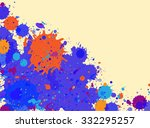 vibrant bright blue and orange...   Shutterstock .eps vector #332295257