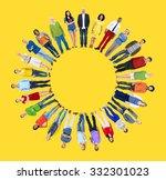 diverse people happiness... | Shutterstock . vector #332301023