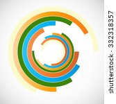 illustration .technology circle ... | Shutterstock .eps vector #332318357