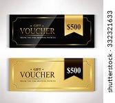 gift voucher template modern... | Shutterstock .eps vector #332321633