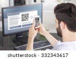 portrait of young businessman... | Shutterstock . vector #332343617