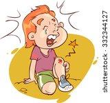foot bleeding child | Shutterstock .eps vector #332344127