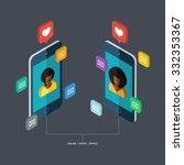 online dating service  virtual... | Shutterstock .eps vector #332353367