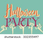 halloween party. | Shutterstock .eps vector #332355497