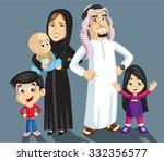 saudi family | Shutterstock .eps vector #332356577