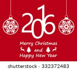 postcard with christmas and new ... | Shutterstock .eps vector #332372483