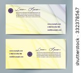 stylish business cards with... | Shutterstock .eps vector #332378567