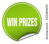 win prizes round green sticker... | Shutterstock .eps vector #332384693