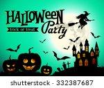 halloween party poster    Shutterstock .eps vector #332387687