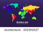 colored map of the world | Shutterstock .eps vector #332393327