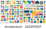 mega set of flat design... | Shutterstock .eps vector #332393507
