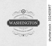 washington usa state.vintage... | Shutterstock .eps vector #332405897