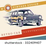 vector. retro car design | Shutterstock .eps vector #332409407