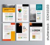 business brochure template... | Shutterstock .eps vector #332410103