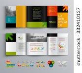 business brochure template... | Shutterstock .eps vector #332410127