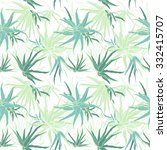 seamless herbal pattern. exotic ... | Shutterstock .eps vector #332415707