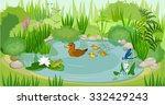 at the pond | Shutterstock .eps vector #332429243