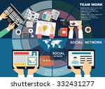 global social network abstract... | Shutterstock .eps vector #332431277