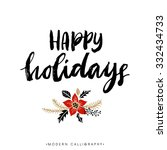 happy holidays. christmas... | Shutterstock .eps vector #332434733