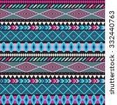seamless vector tribal texture. ... | Shutterstock .eps vector #332440763