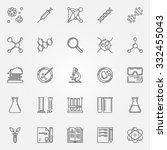 biotechnology icons   vector... | Shutterstock .eps vector #332455043
