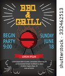 barbecue party poster design... | Shutterstock .eps vector #332462513